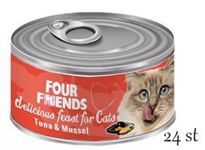 Four Friends Tuna & Mussel 24-pack