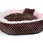 SOFT VELOUR POLKA RING BED - Pink - Large