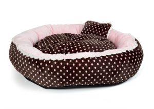 SOFT VELOUR POLKA RING BED - Pink - Large