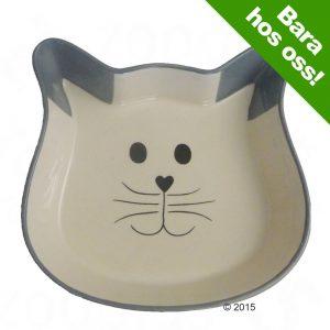 Trixie Cat Face keramikskål - 250 ml, Ø 12 cm