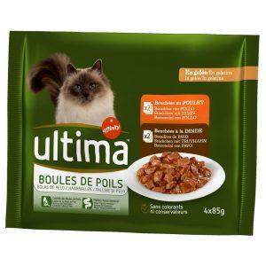 Ultima Cat Hairball - 4 x 85 g