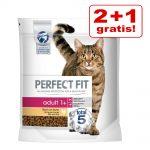 2 + 1 på köpet! 3 x 1,4 kg / 2,8 kg Perfect Fit kattfoder - Sterile 1+ Lax (3 x 1,4 kg)