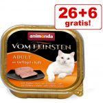 26 + 6 på köpet! 32 x 100 g Animonda vom Feinsten - Blandpack: Senior