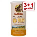 3 + 1 på köpet! 4 x 20 g IAMS Naturally Cat 100 % Meat - Anka (4 x 20 g)