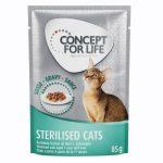36 + 12 på köpet! Concept for Life våtfoder 48 x 85 g - Light Cats i gelé