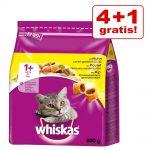 4 + 1 på köpet! 5 x 800 g Whiskas torrfoder - 1+ Kyckling