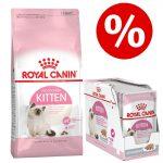 4 / 10 kg Royal Canin Kitten + 12 x 85 g våtfoder till sparpris! - Kitten (4 kg) + Kitten i sås (12 x 85 g)