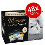 Blandat ekonomipack: Miamor Ragout Royale 48 x 100 g - Multi-Mix Cream (Lax, kalv, anka & kyckling)