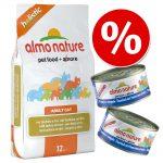 Blandpack: 2 kg Almo Nature torrfoder + 12 x 70 / 140 g våtfoder - 2 kg Sterilised Beef & Rice + 12 x 140 g Classic Tonfisk, kyckling & skinka