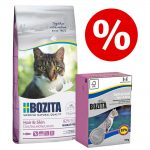 Blandpack: 2 kg Bozita torrfoder + 6 x 190 g Bozita våtfoder - Indoor & Sterilised