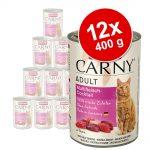 Ekonomipack: Animonda Carny Adult 12 x 400 g Kalkon, kyckling & räkor