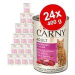 Ekonomipack: Animonda Carny Adult 24 x 400 g - Nötkött, kyckling & ankhjärtan