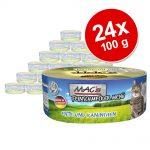 Ekonomipack: MAC's Cat Gourmet 24 x 100 g - Blandpack: Anka & kanin + Kalv & fjäderfä