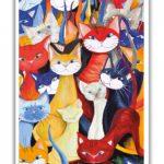 Poster - kattmotivet Mångfald
