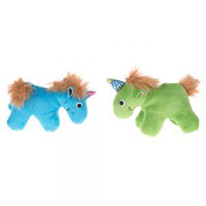 Unicorn leksaksset med kattmynta - 2 st à L 10 x B 4 x H 7 cm