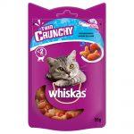 Whiskas Trio Crunchy Treats kattgodis +20 % mer innehåll Ekonomipack: Kött 8 x 55 g