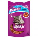 Whiskas Trio Crunchy Treats kattgodis +20 % mer innehåll Fisk 55 g