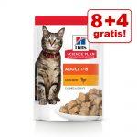 8 + 4 på köpet! 12 x 85 g Hill's Science Plan kattmat - Kitten Fish Selection