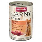 Animonda Carny Kitten 12 x 400 g - Nötkött, kalv & kyckling
