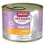 Animonda Integra Protect Adult Diabetes 6 x 200 g konservburk - Fjäderfä
