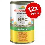 Ekonomipack: Almo Nature HFC 12 x 140 g - Kyckling & räkor