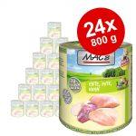 Ekonomipack: MAC's Cat våtfoder 24 x 800 g - Blandpack: Fjäderfä & tranbär + Anka, kalkon & kyckling