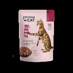 Prima Cat Classic Nötkött i Sås 28x85 g