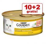 10 + 2 på köpet! 12 x 85 g Gourmet Gold / Perle / Ragout - Kyckling