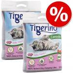 2 x 12 kg Tigerino Canada till sparpris! - Blandpack: Babypuderduft + White Roses