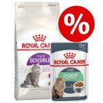 Blandpack: 4 kg Royal Canin + 24 x 85 g våtfoder - Exigent 33 - Aromatic Attraction + Instinctive i sås