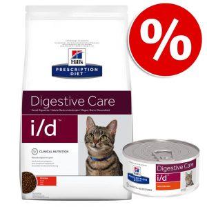 Blandpack: Hill's Prescription Diet Feline torr- och våtfoder - Feline m/d (1,5 kg + 6 x 156 g)