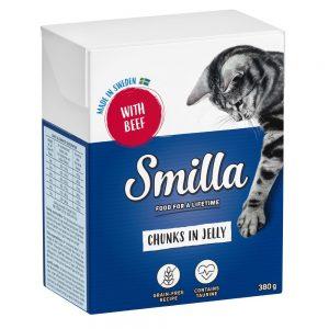 Blandpack: Smilla Chunks i sås eller gelé 12 x 370 / 380 g Blandpack i sås: Kyckling, Nötkött, Kycklinglever