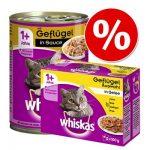 Blandpack: Whiskas 12 x 400 g burkar + 12 x 100 g portionspåsar - Laxvarianter
