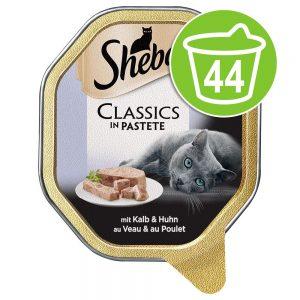 Ekonomipack: 44 x 85 g Sheba portionsform - Classics Paté Fjäderfä-cocktail