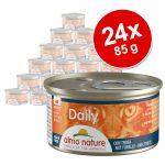 Ekonomipack: Almo Nature Daily Menu 24 x 85 g - Mousse med kanin
