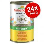 Ekonomipack: Almo Nature HFC 24 x 140 g - Tonfisk & räkor
