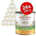 Ekonomipack: Almo Nature HFC 24 x 280 g - Lax & pumpa