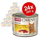 Ekonomipack: Animonda Carny Senior 24 x 200 g - Nötkött, kyckling & ost