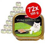 Ekonomipack: Animonda vom Feinsten Adult med gourmetfyllning 72 x 100 g - Kyckling, laxfilé & spenat