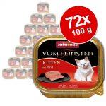 Ekonomipack: Animonda vom Feinsten Kitten 72 x 100 g Nötkött