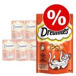 Ekonomipack: Dreamies kattgodis, 6 x 55 / 60 / 110 g - Ost (6 x 60 g)