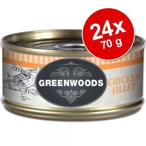 Ekonomipack: Greenwoods Adult våtfoder 24 x 70 g - Chicken