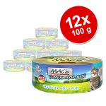 Ekonomipack: MAC's Cat Gourmet 12 x 100 g - Anka & kanin