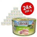 Ekonomipack: MAC's Cat kattfoder 24 x 200 g - Kitten Kalkon, anka & nötkött