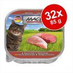 Ekonomipack: MAC's Cat kattfoder portionsform 32 x 85 g - Anka, kanin & nötkött