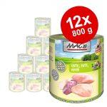 Ekonomipack: MAC's Cat våtfoder 12 x 800 g - Blandpack: Anka, kanin & nötkött + Nötkött