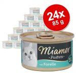 Ekonomipack: Miamor Paté 24 x 85 g Multibox Fisk (3 sorter)
