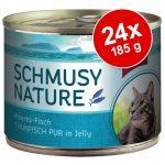 Ekonomipack: Schmusy Nature Fish 24 x 185 g Blandpack I Tonfisk/Sardiner