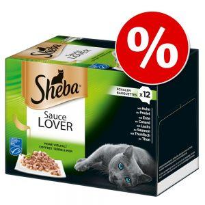 Jumbo ekonomipack: Sheba 96 x 85 g portionsform i blandpack - Selection in Sauce