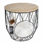 Kattbädd Siesta Caviar (wooden table top)